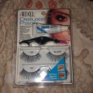 False eyelashes brand new with a glue